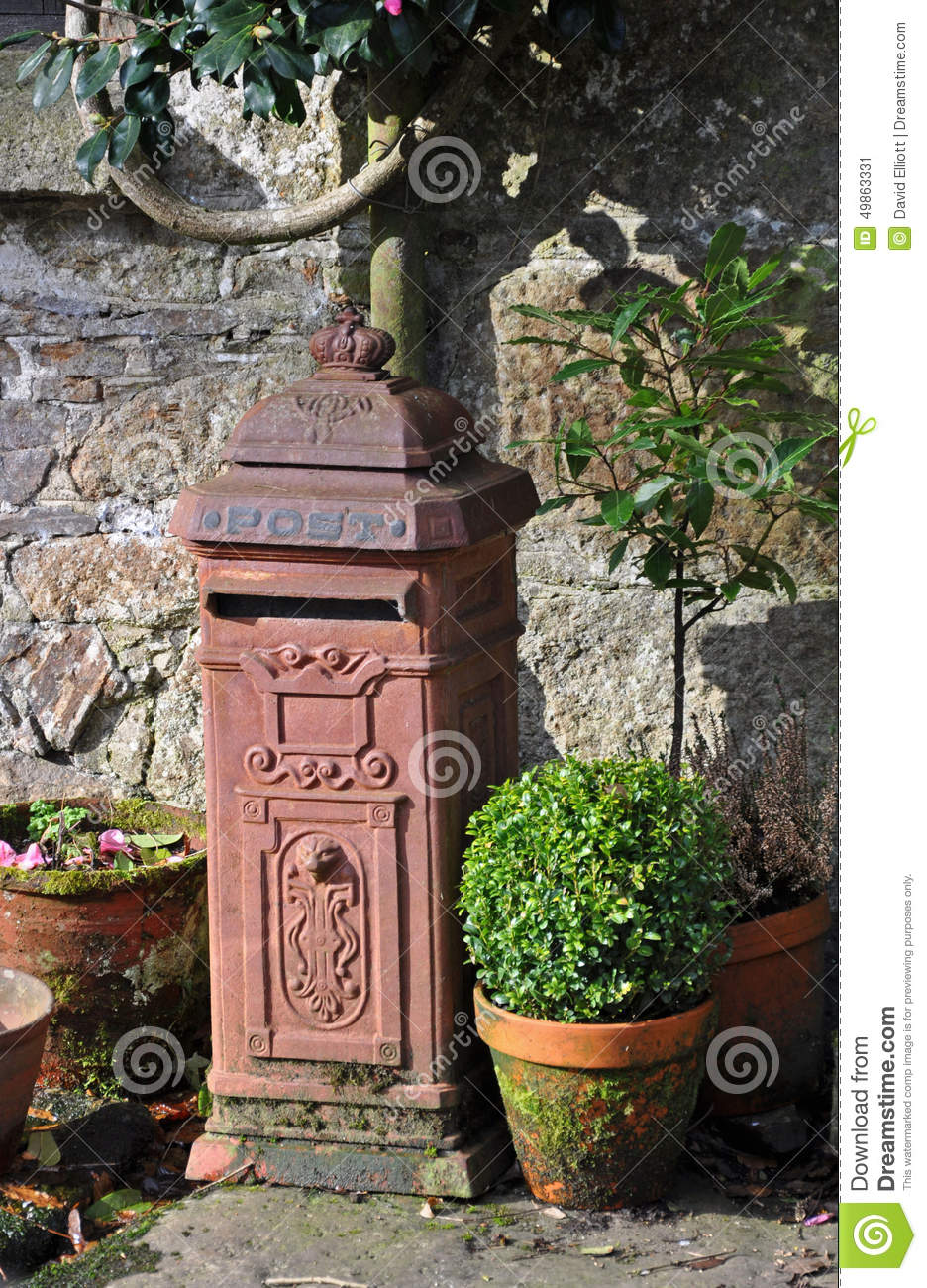 Garden Post Box Stock Photo Image 49863331