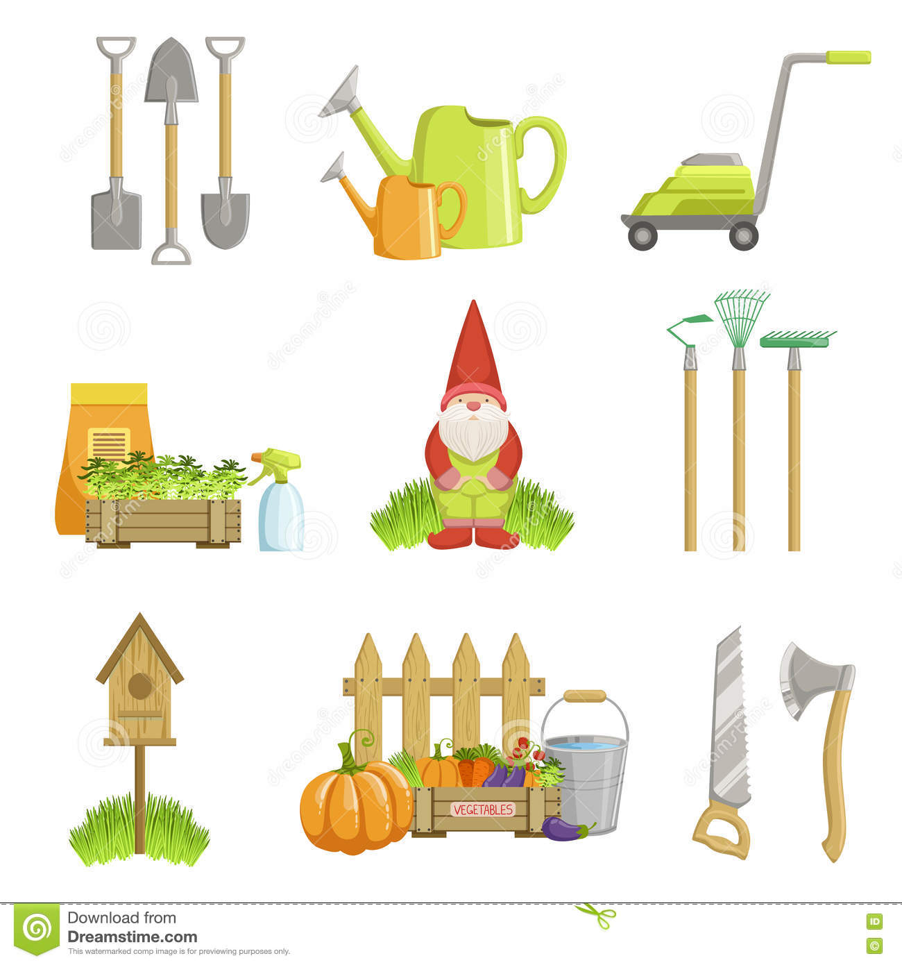 Royalty Free Vector. Download Garden Related Objects ...