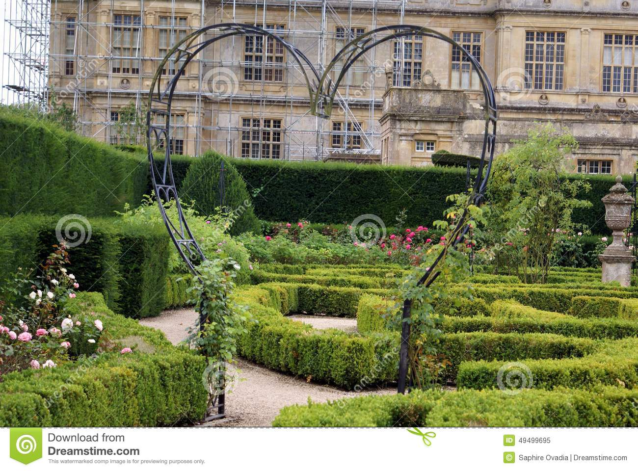 Garden Rose Arch In The Shape Of A Heart Stock Photo Image 49499695