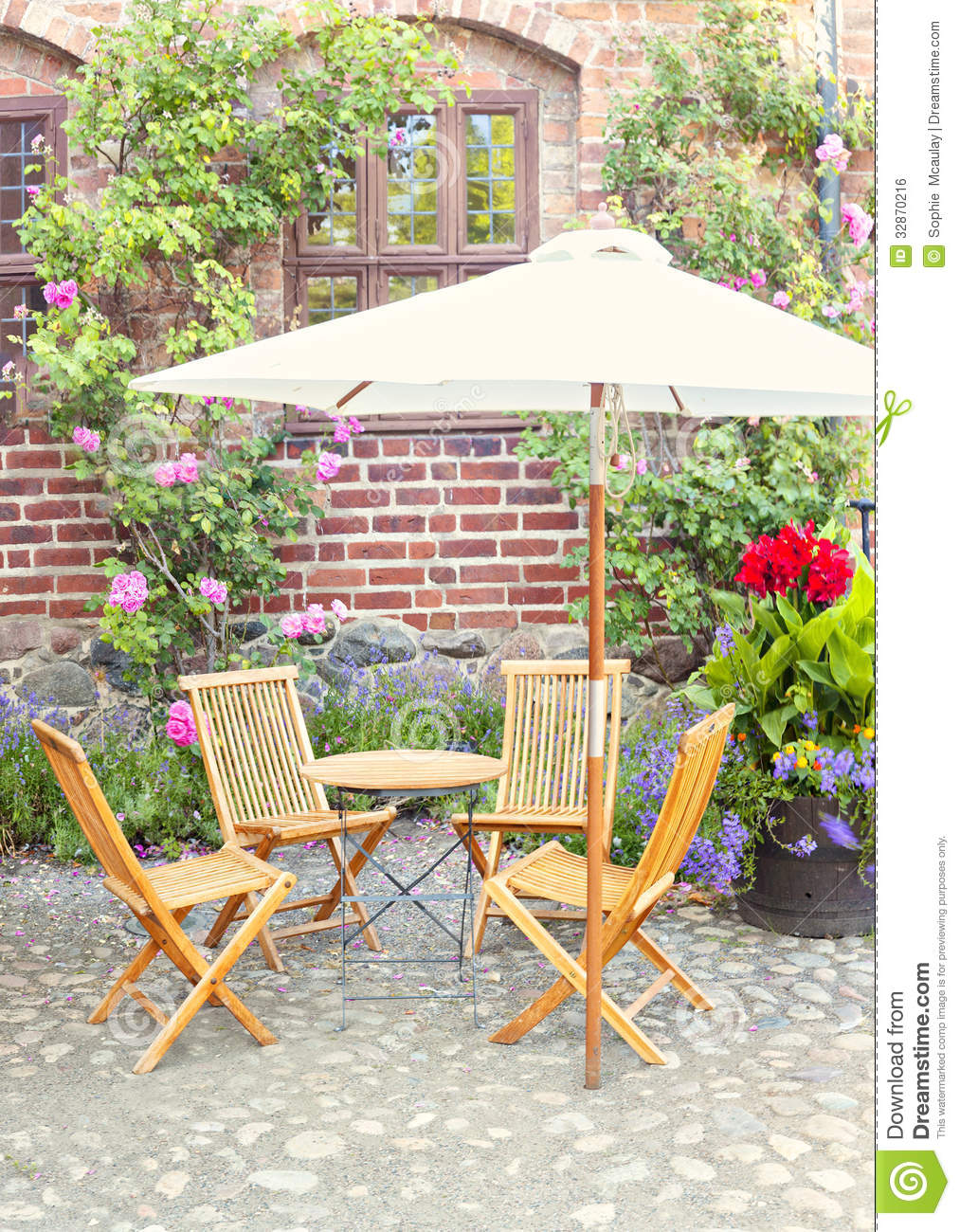 Garden seating area royalty free stock image image 32870216 for Outside garden seating area