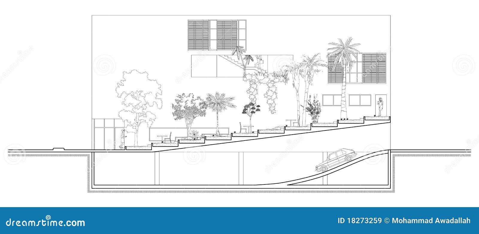 garden section stock vector  illustration of minimal