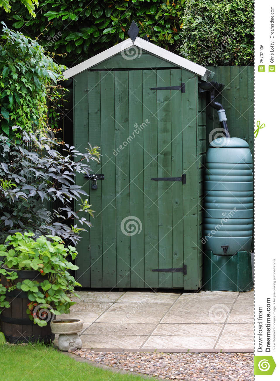 Garden shed in an english garden royalty free stock image for English garden shed designs