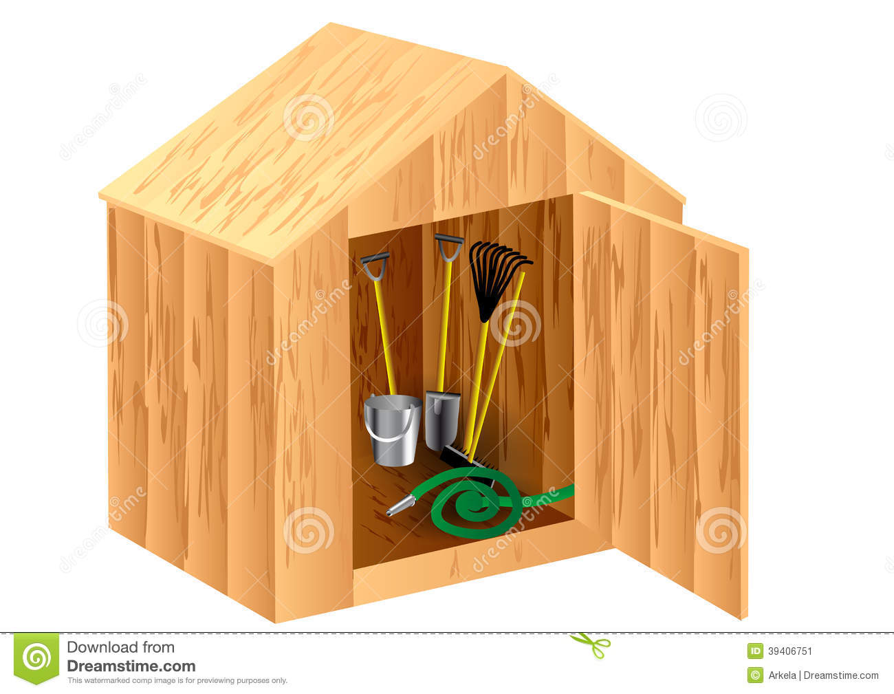 Garden Shed Stock Vector Image 39406751