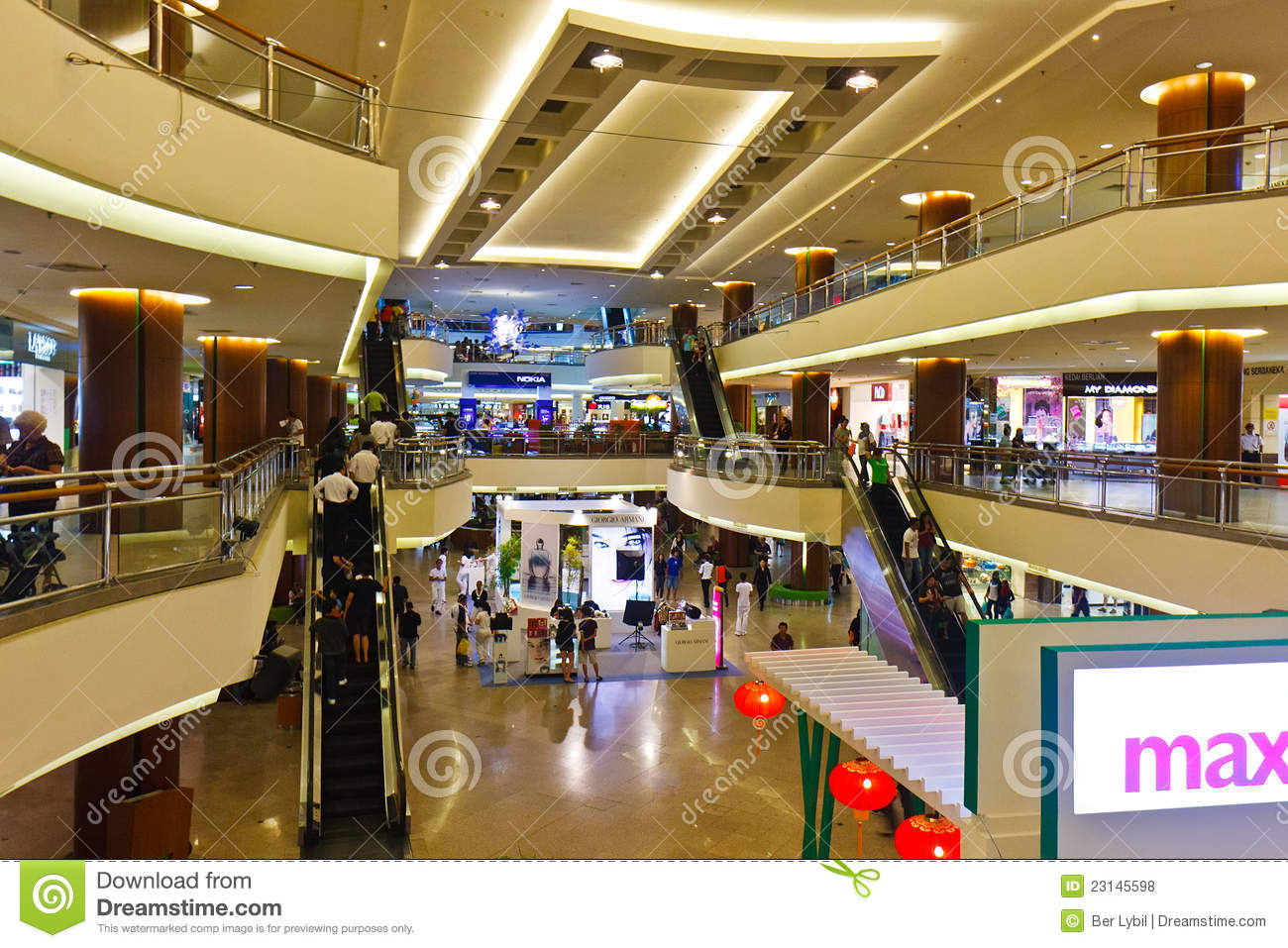 The Garden Shopping Mall Malaysia Editorial Stock Photo