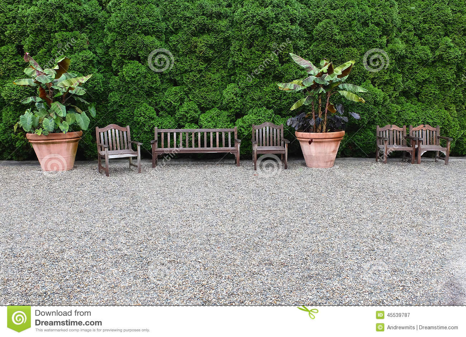 garden sitting area stock photo image 45539787