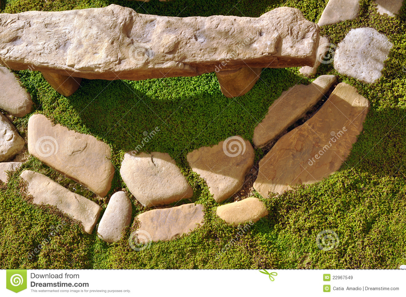 Outstanding Garden Stones Stock Image Image Of Circle Place Stones Theyellowbook Wood Chair Design Ideas Theyellowbookinfo