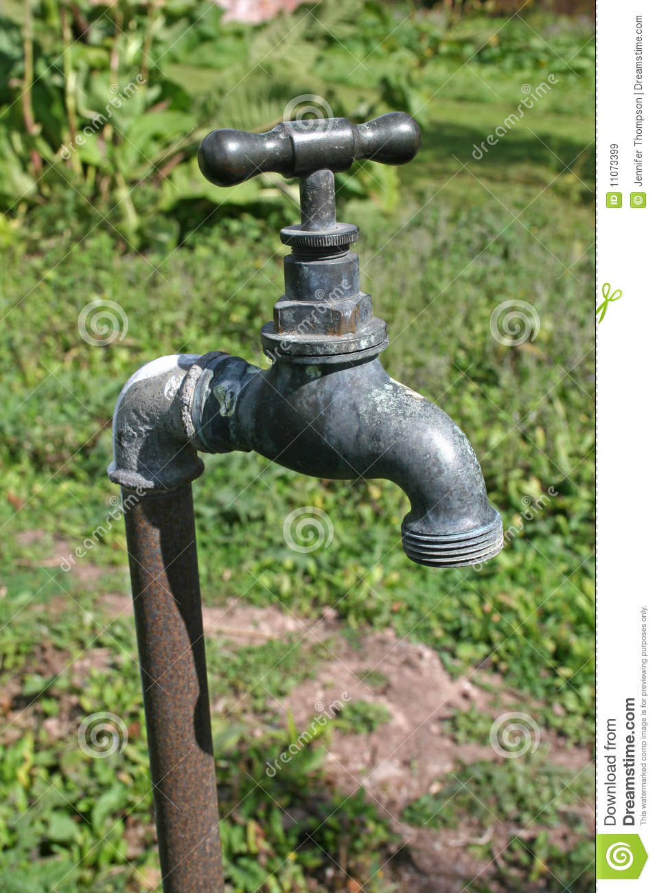 Garden Tap Stock Image Image Of Handle Spout Stand 11073399