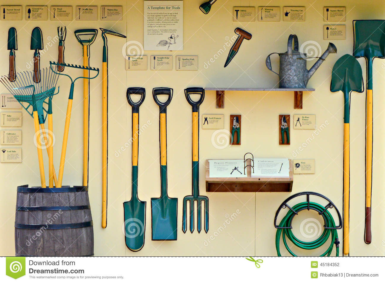 Garden Tool Display stock photo. Image of display, garden