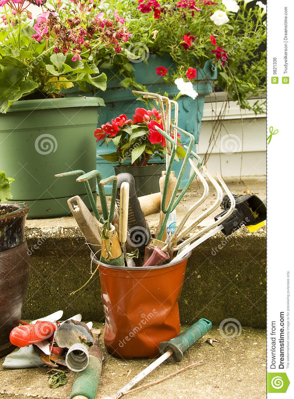 Garden tools royalty free stock image image 9821336 - Gardening works in october winter preparations ...