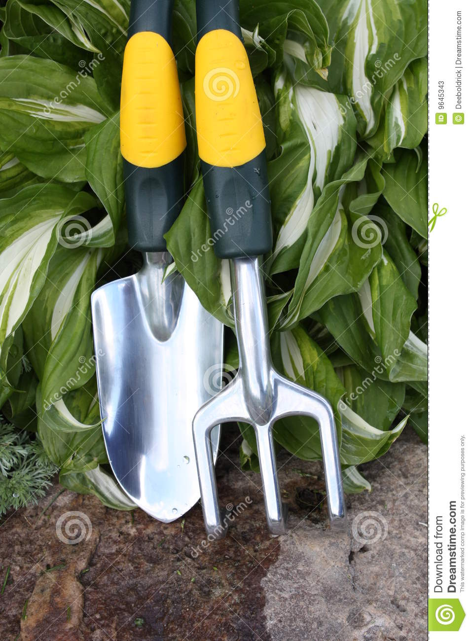 Garden tools for planting stock photos image 9645343 for Gardening tools used in planting