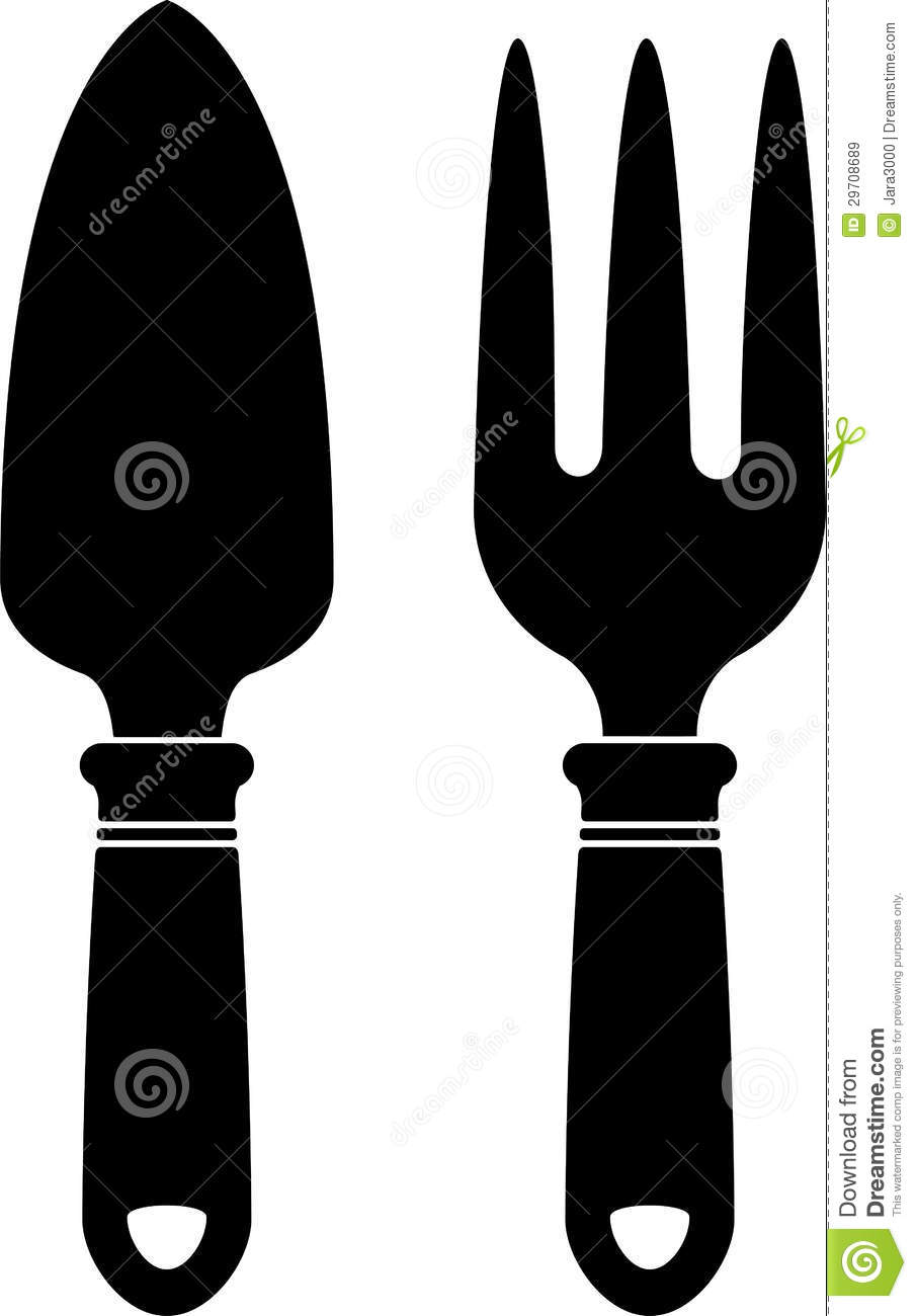 Garden Tools (silhouette) Royalty Free Stock Images - Image: 29708689