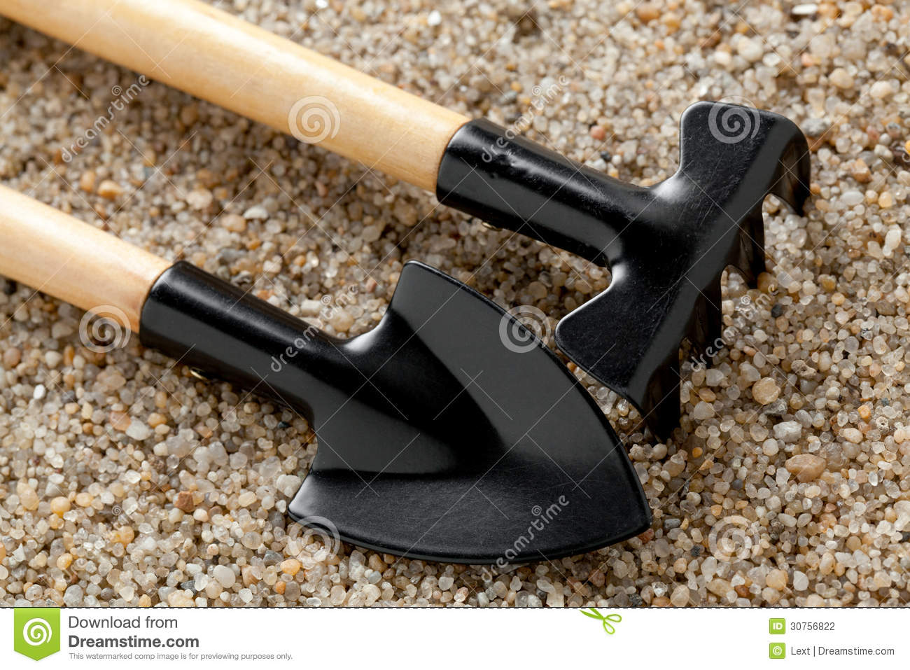 Garden tools on soil stock photography image 30756822 for Soil utensils