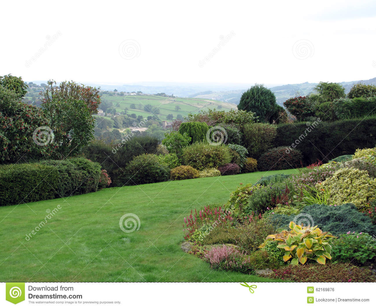 Garden with a view stock photo image 62169876 - Countryside dream gardens ...