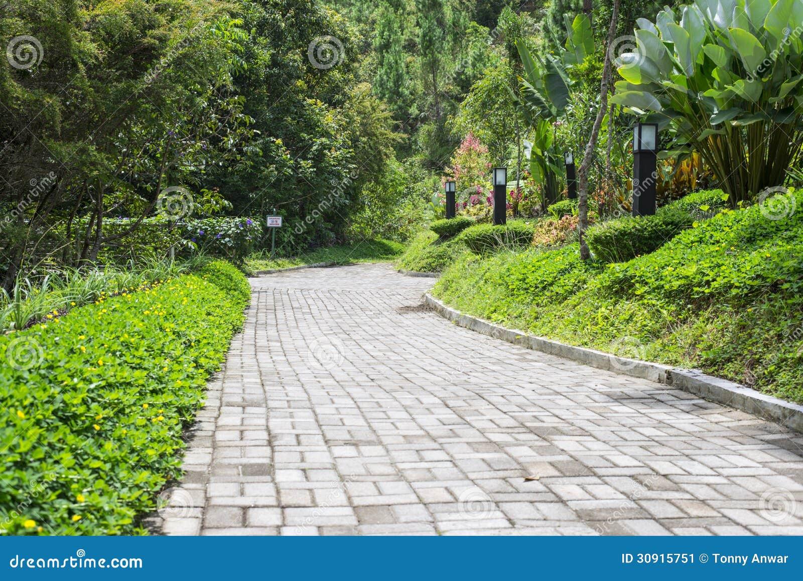 Garden Walkway Stock Image - Image: 30915751