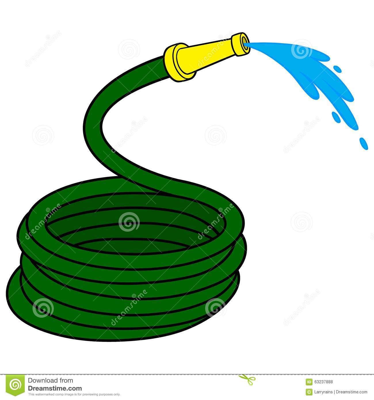 Garden Water Hose Stock Vector Image Of Hose Planting
