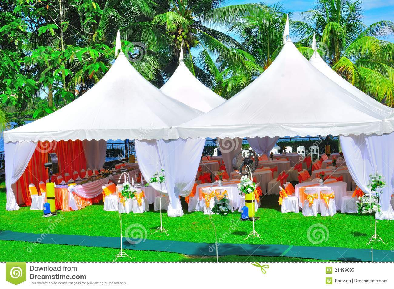 Garden wedding and party stock image. Image of green ...