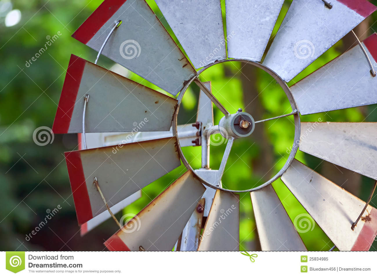 Garden Windmill stock image. Image of nature, home, move - 25834985
