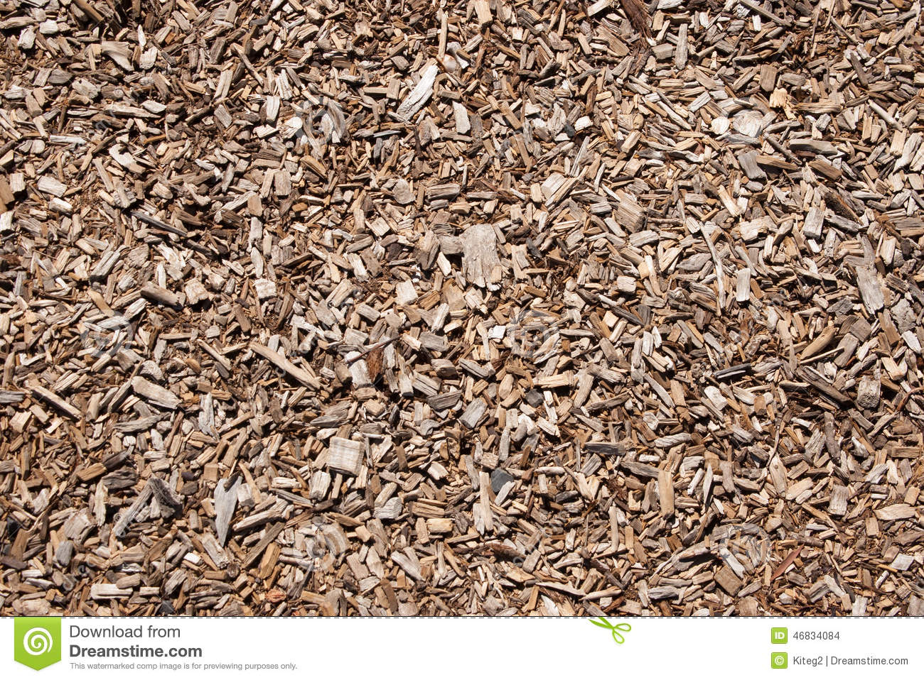 Garden Wood Bark Mulch Stock Photo Image 46834084