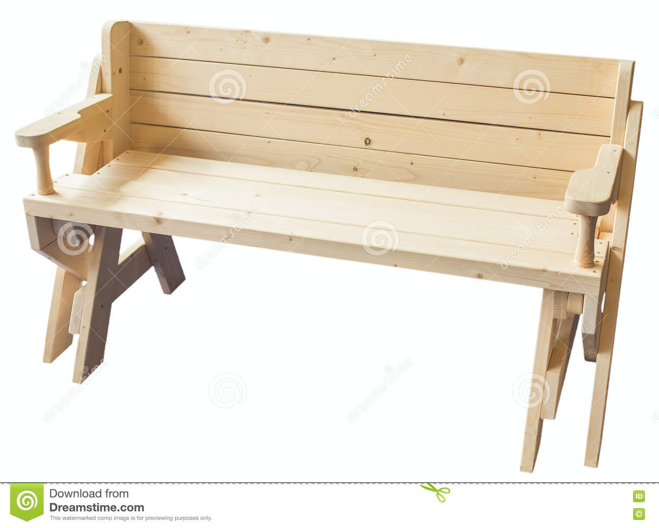 Picture of: Garden Wooden Bench Isolated Stock Image Image Of Hardwood Single 70795985