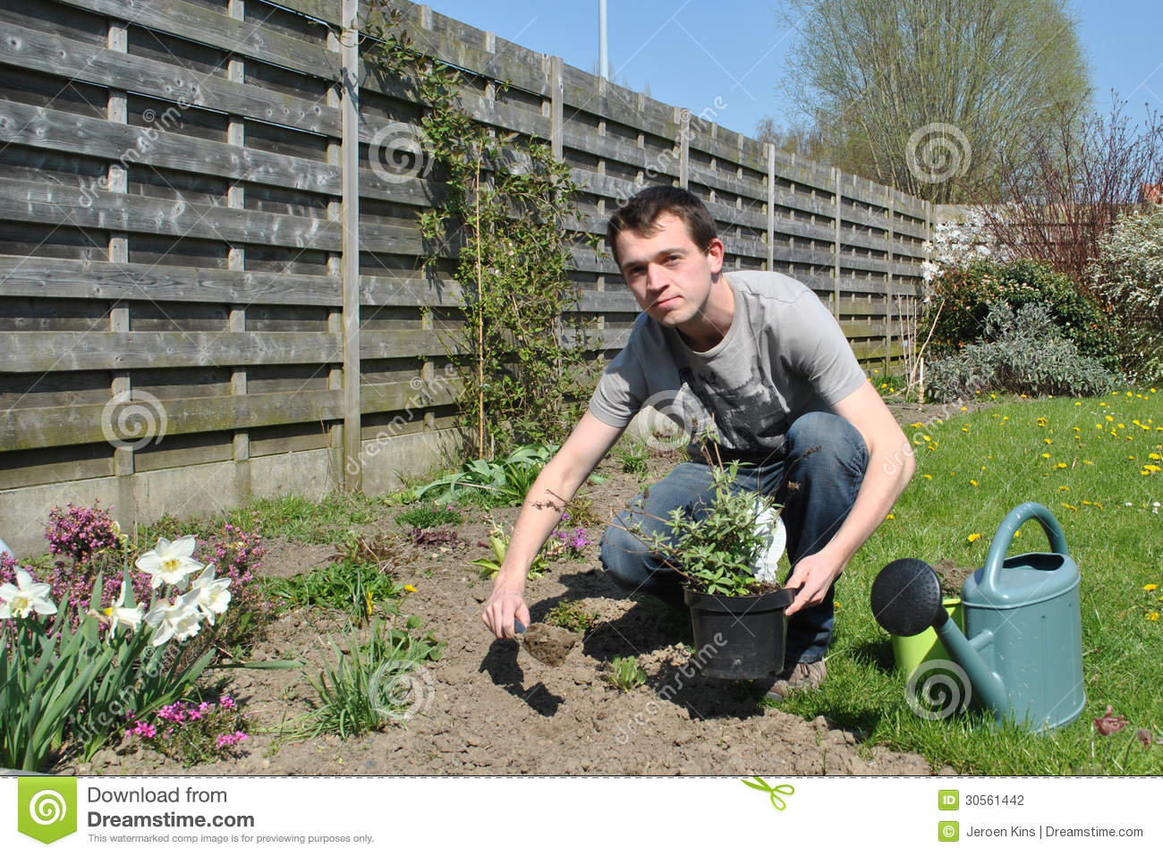 Garden Work At Spring Stock Photography Image 30561442