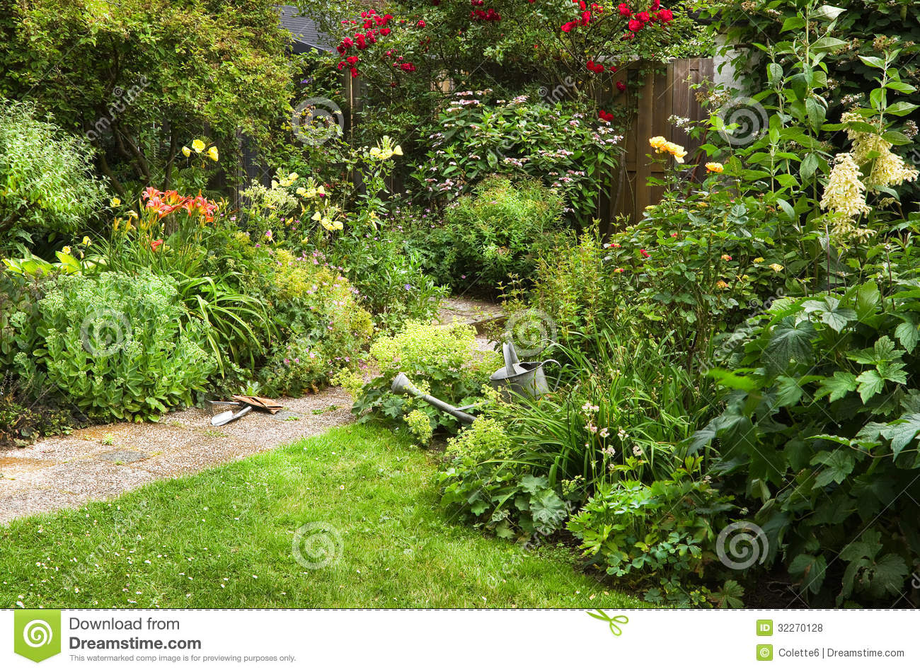 Garden Work On Summer Morning Royalty Free Stock Photos