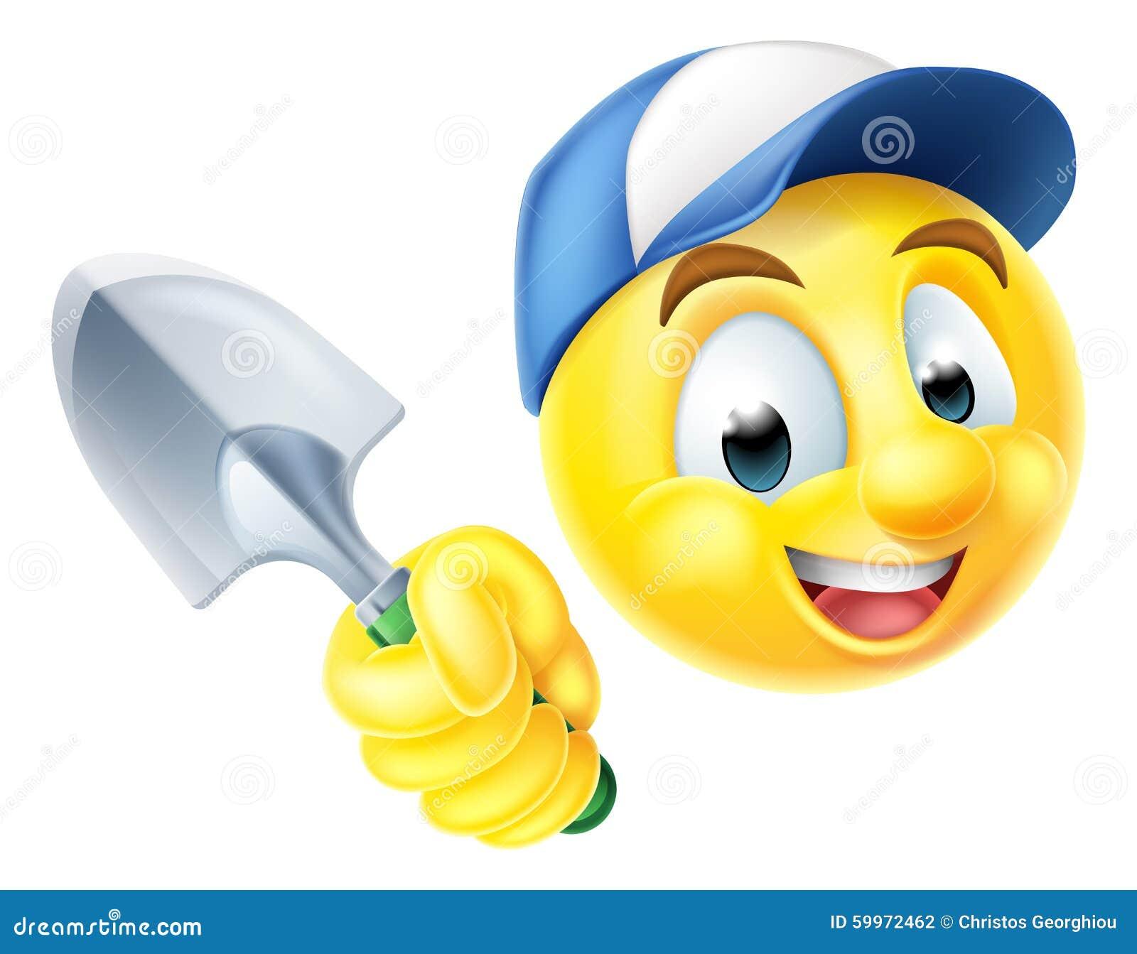 gardener emoticon emoji with trowel stock vector image 59972462 emoticon clip art free tools emoticon clip art sad