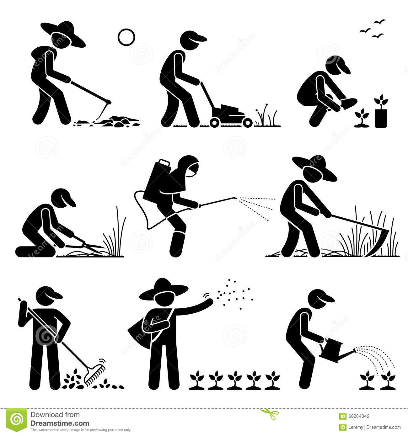 Gardener And Farmer Clipart Stock Vector Image 68204042