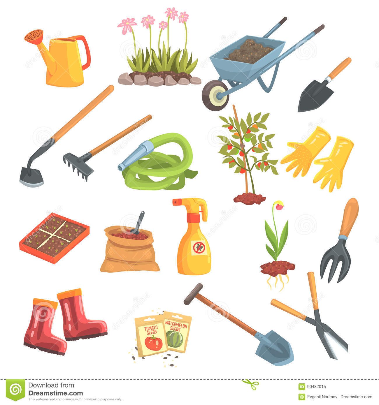 cartoon work gloves cartoons illustrations vector stock On tools required for gardening