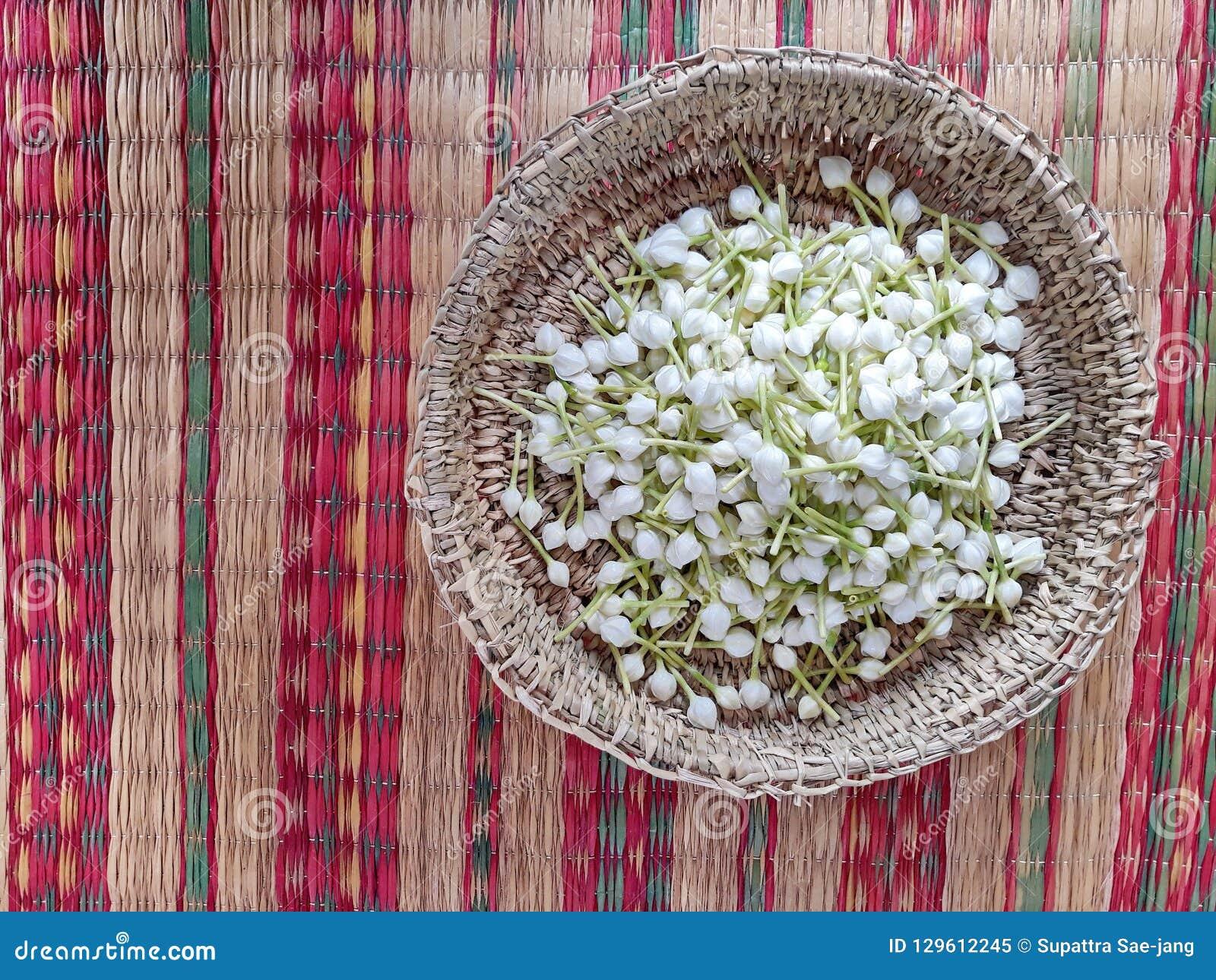 gardenia cape jasmine flower in a basket