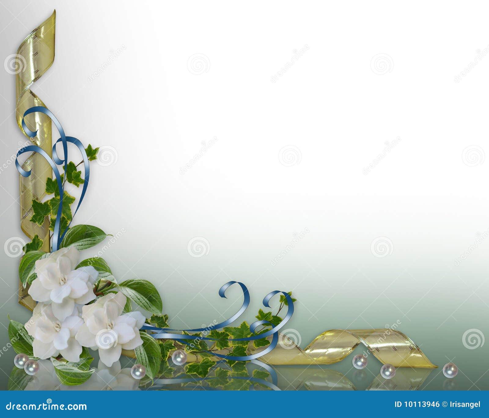 Gardenia Border Clip Art