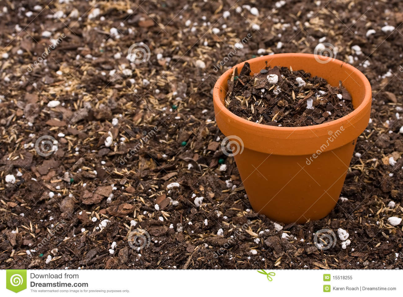 Gardening royalty free stock photo image 15518255 for Clay potting soil