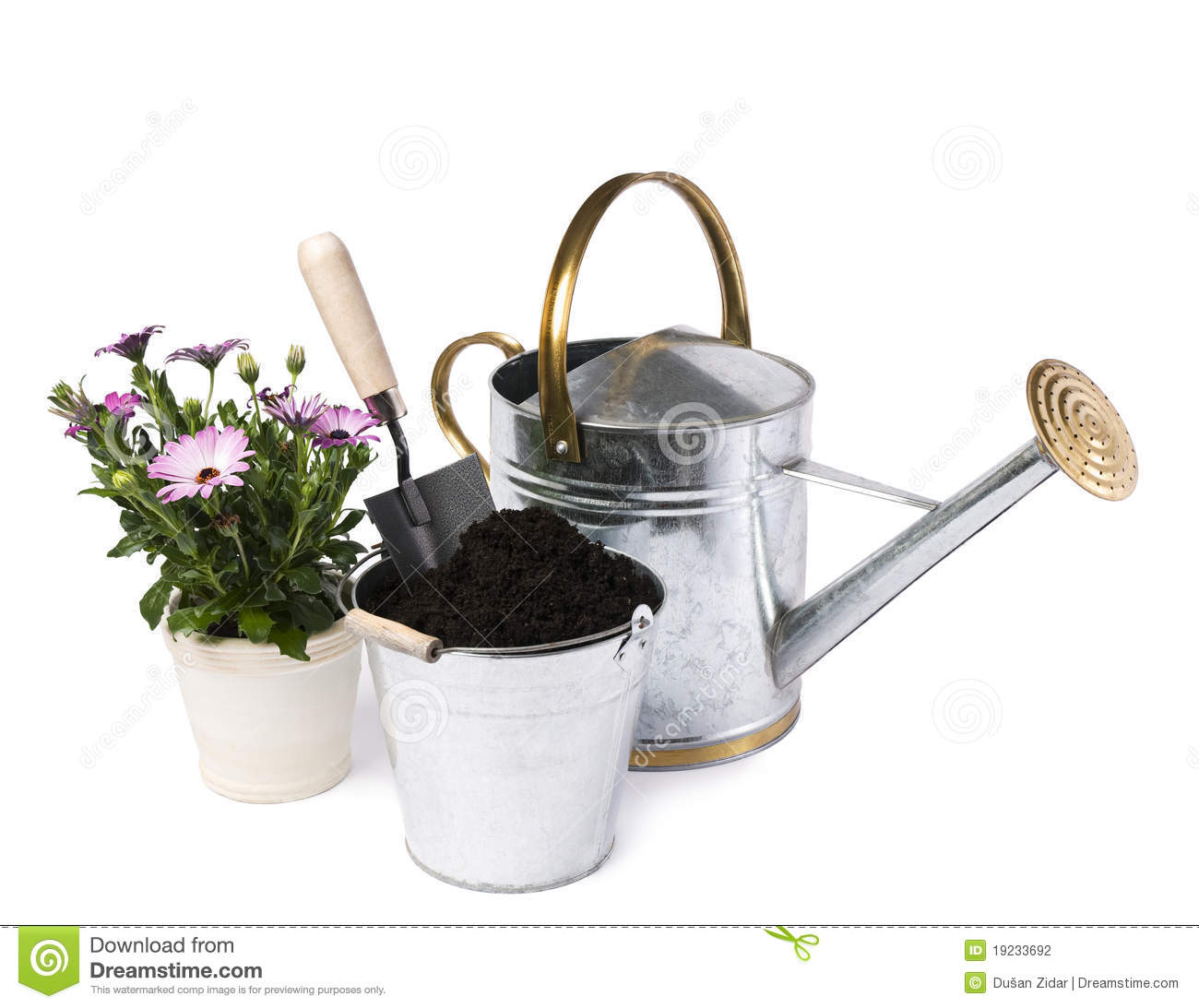 Gardening stock photography image 19233692 for Gardening tools watering