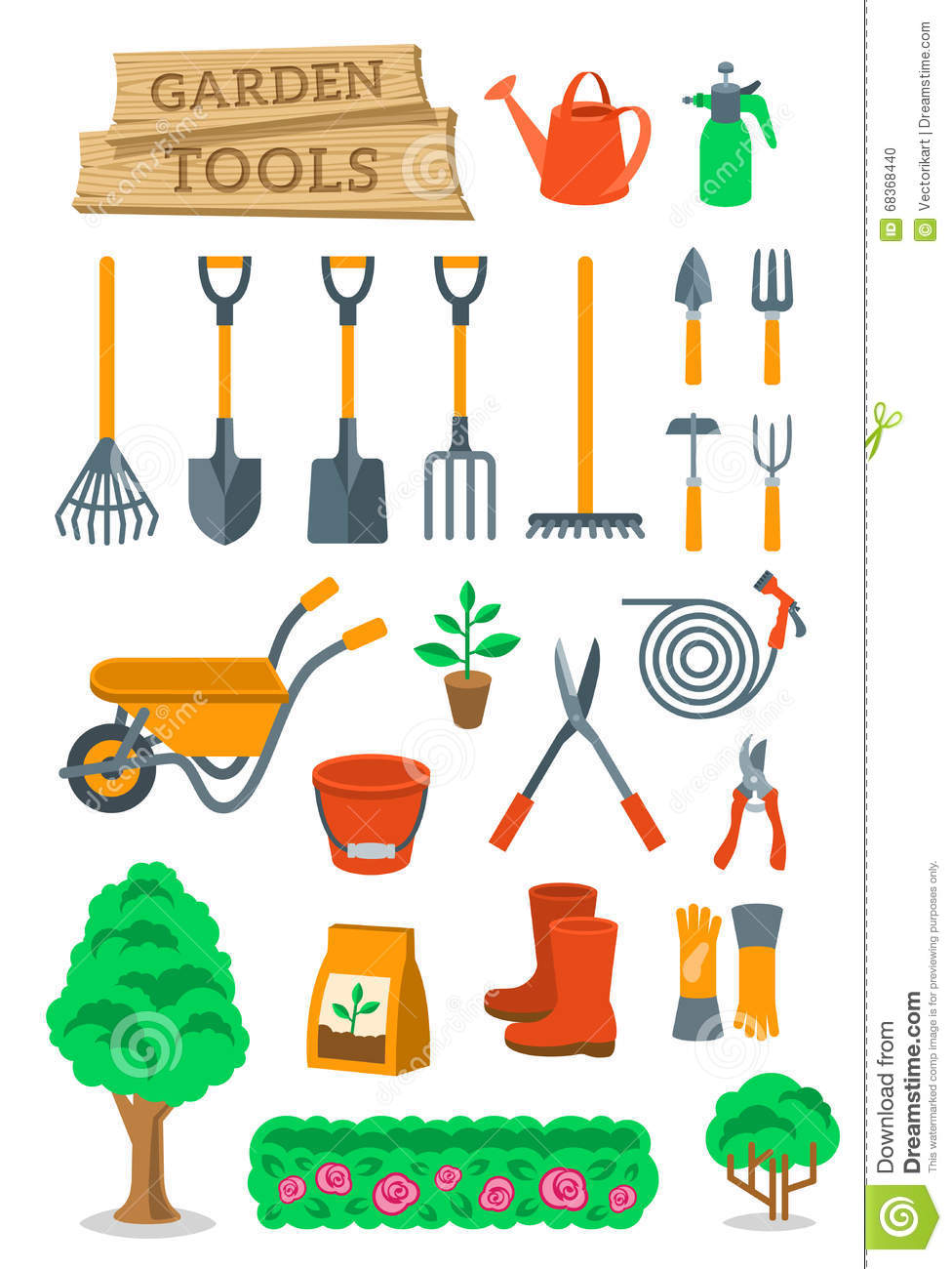Farmer tools vector images galleries for Garden tools and implements