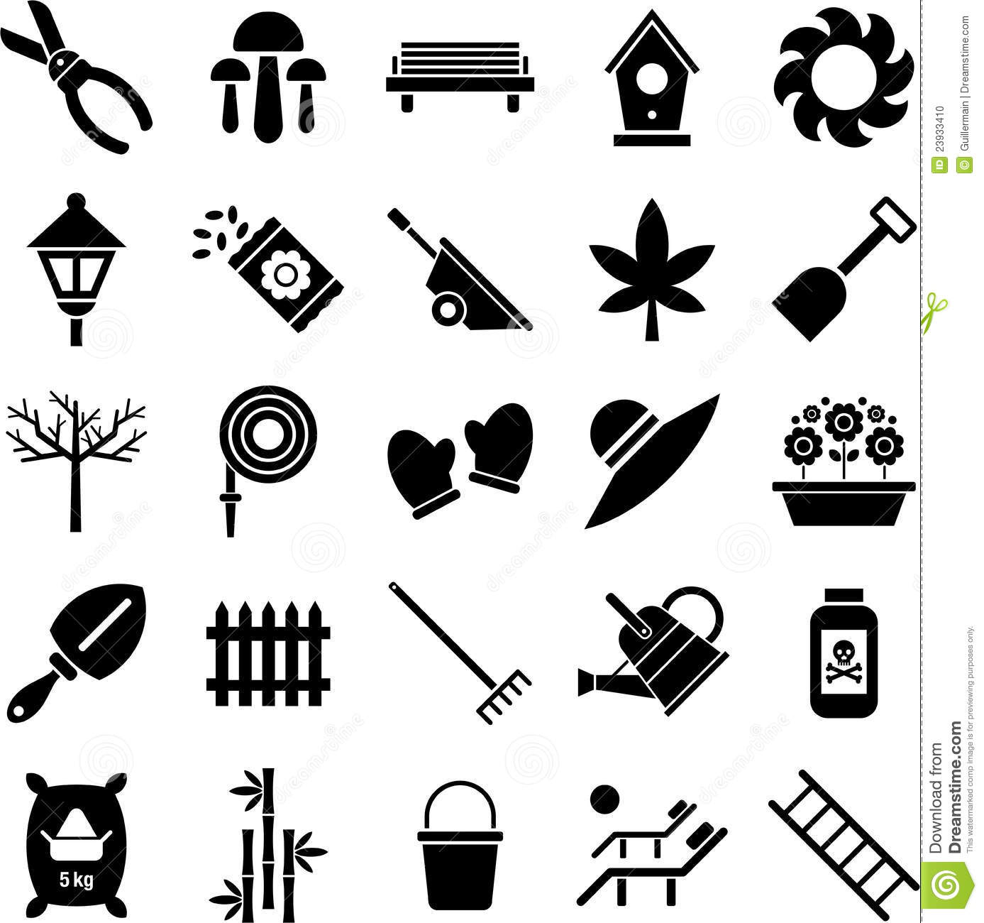 Gardening Icons Stock Photo Image 23933410