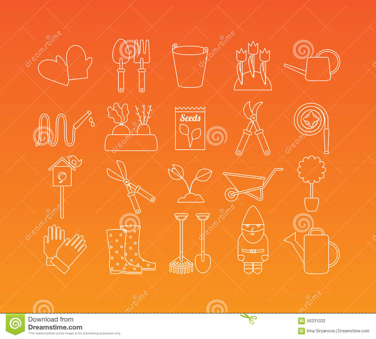 Gardening Line Icon Vector Illustration CartoonDealer