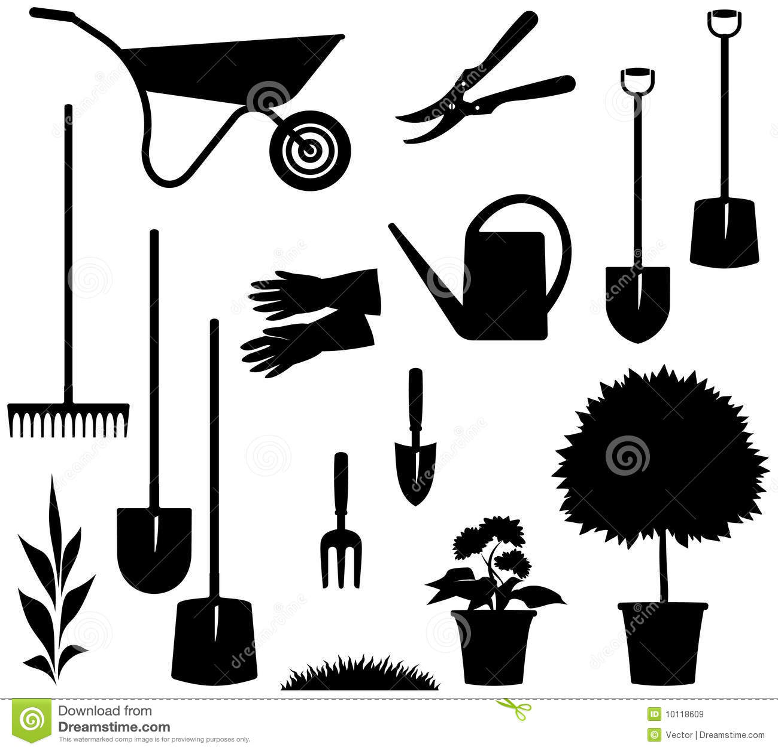 Gardening Items – Vector illustration