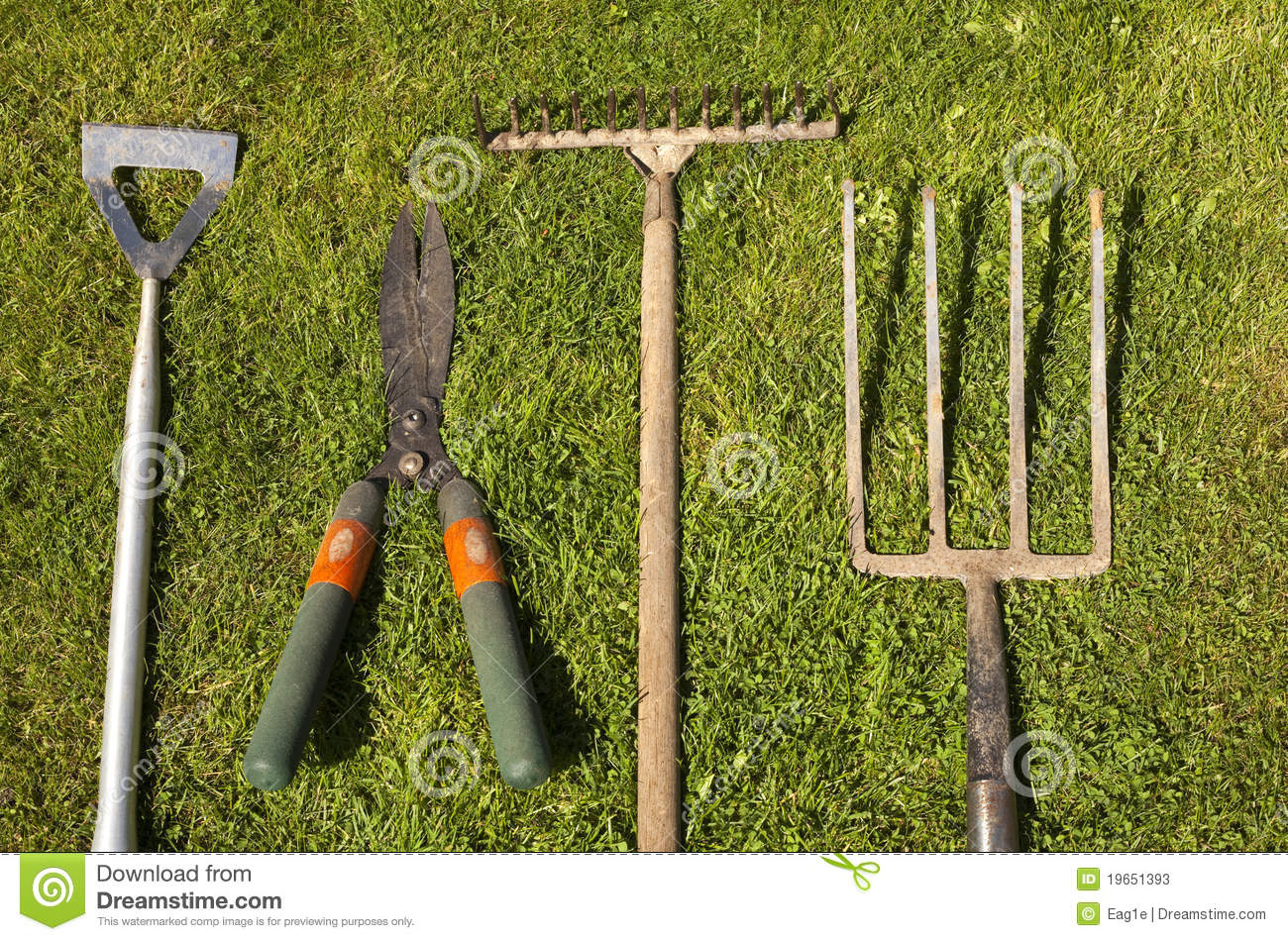 Different Landscaping Tools : Gardening tools stock photos image