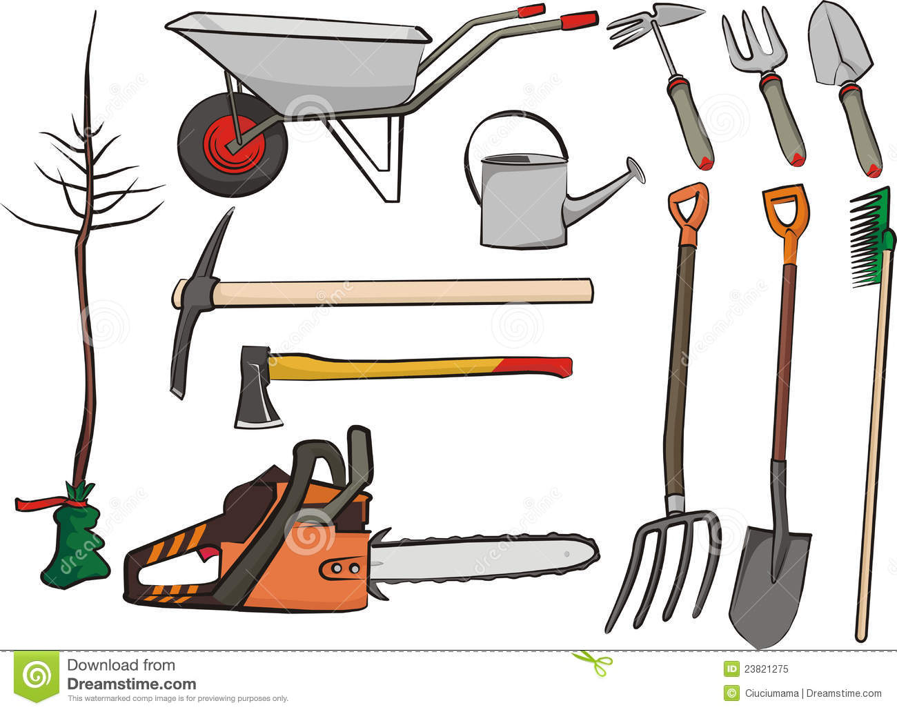Gardening tools royalty free stock photo image 23821275 for Gardening tools for weeding