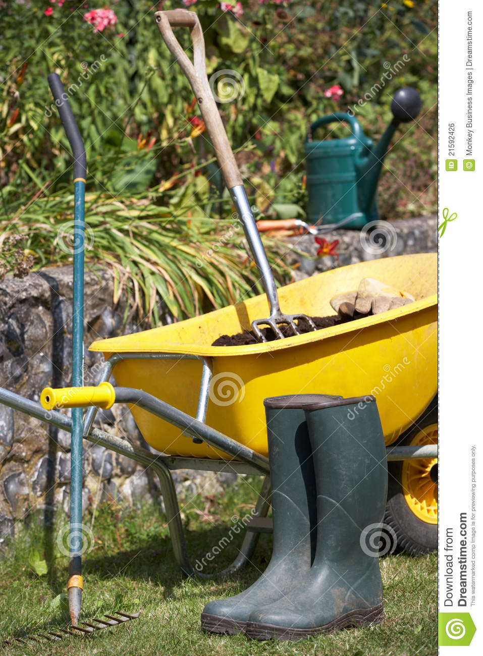 Gardening tools and accessories royalty free stock image for Gardening tools and accessories