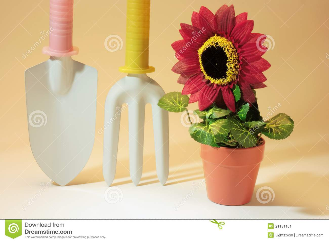 Gardening tools and Artificial Potplant