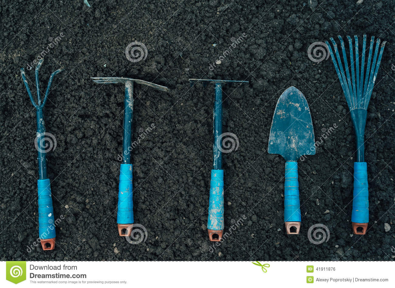 Gardening tools stock photo image 41911876 for Soil utensils