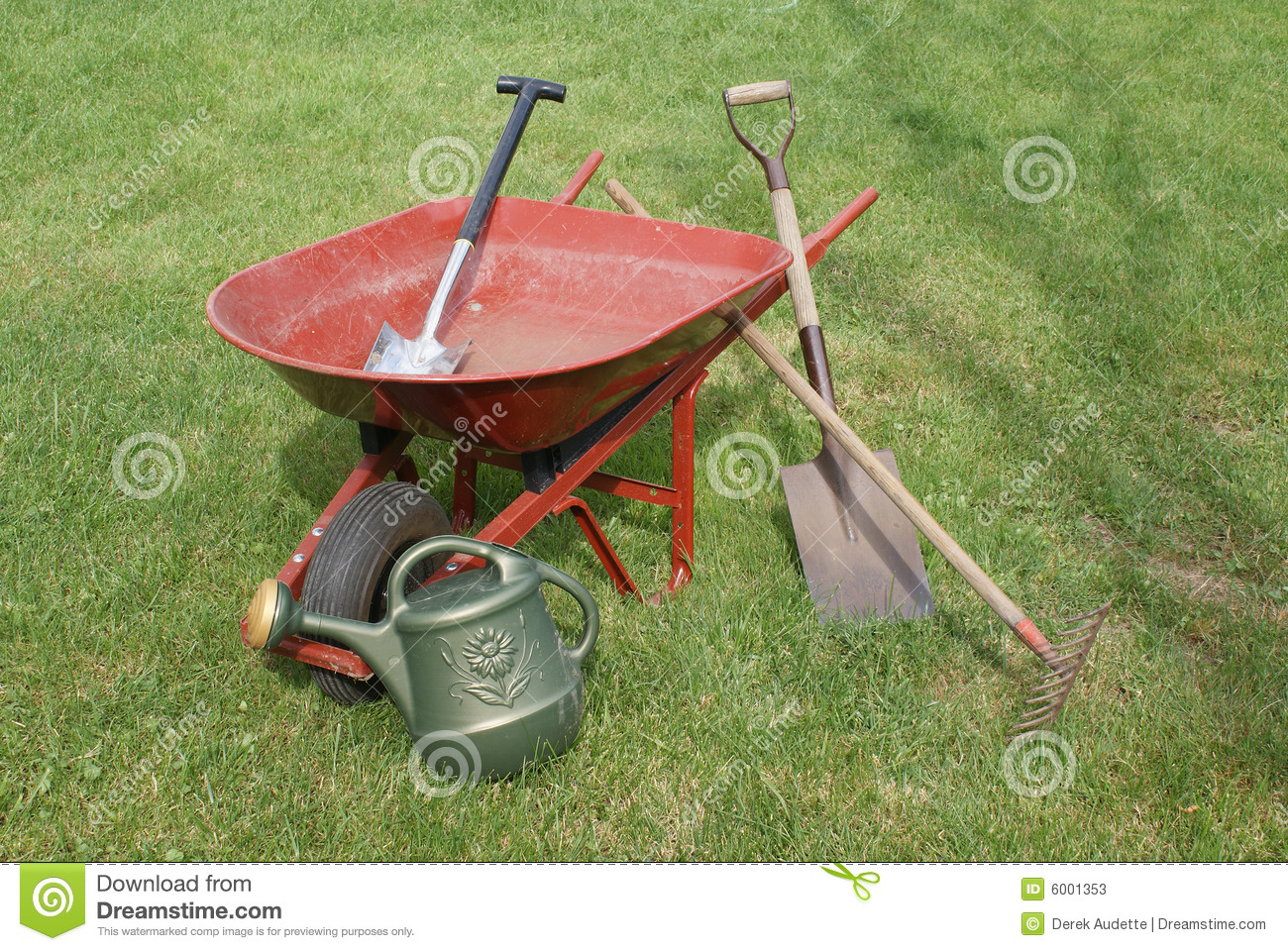 Gardening tools and equipment stock image image 6001353 for Garden implements tools
