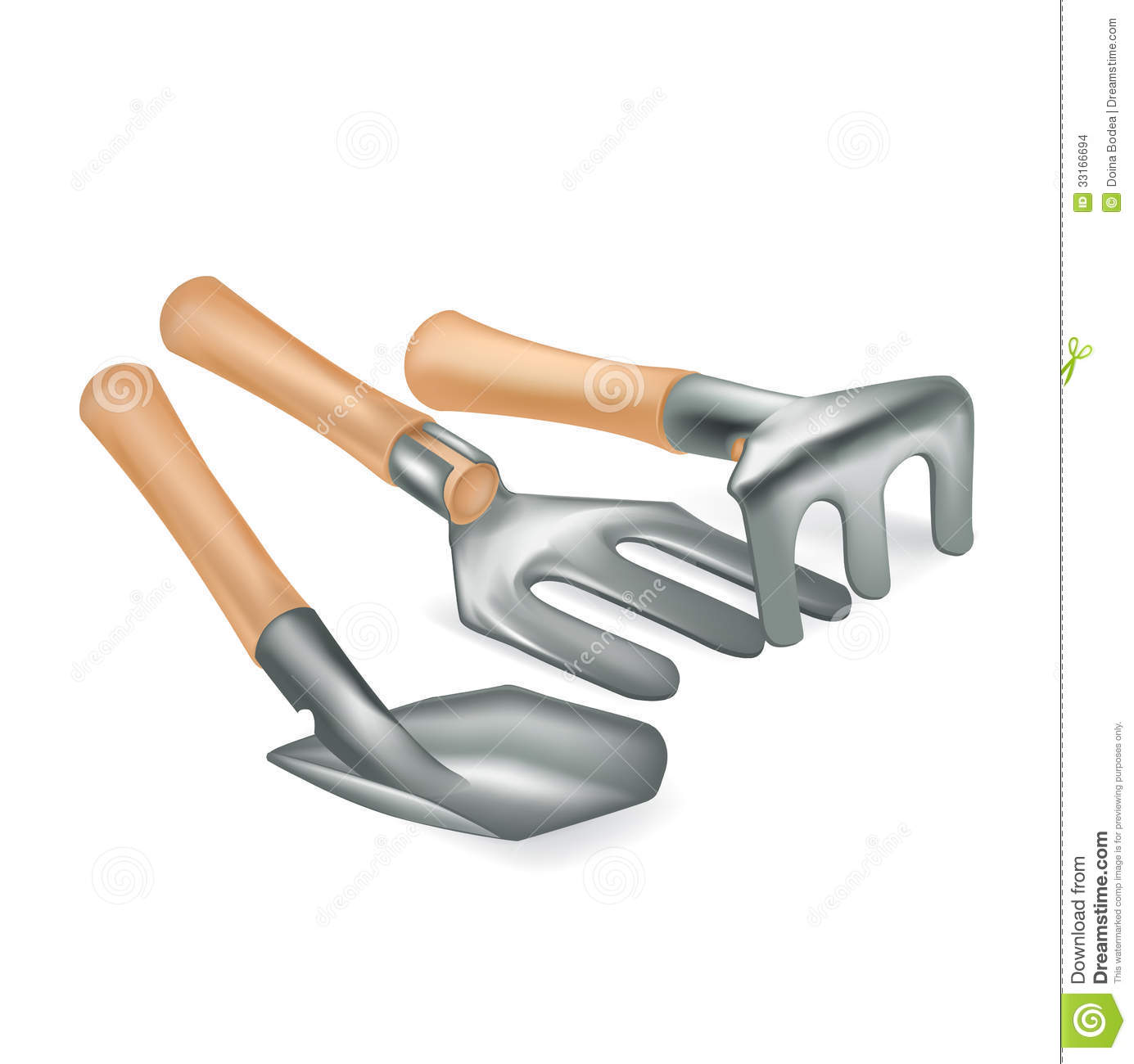 Gardening tools isolated on white stock images image for Gardening tools to have