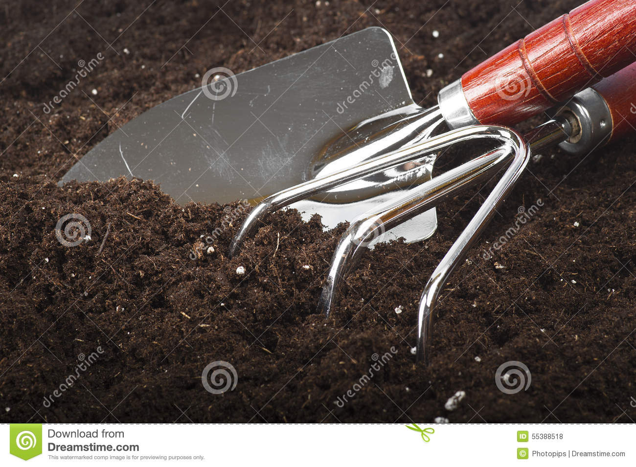 Gardening tools stock photo image 55388518 for Soil utensils