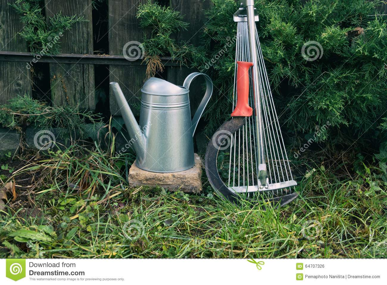 Gardening tools stock photo image 64707326 for Gardening tools watering
