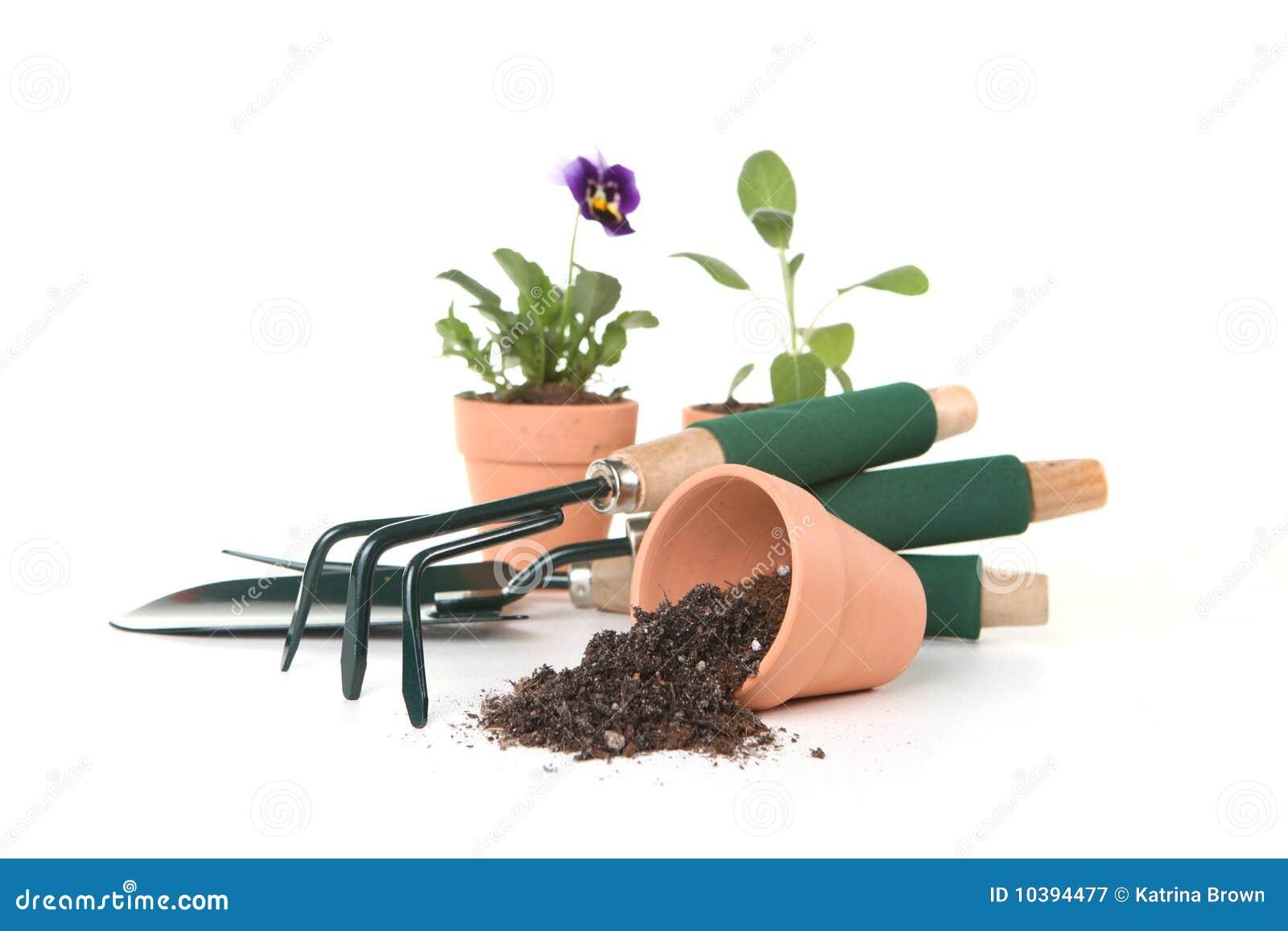 Gardening Tools On White Background Royalty Free Stock