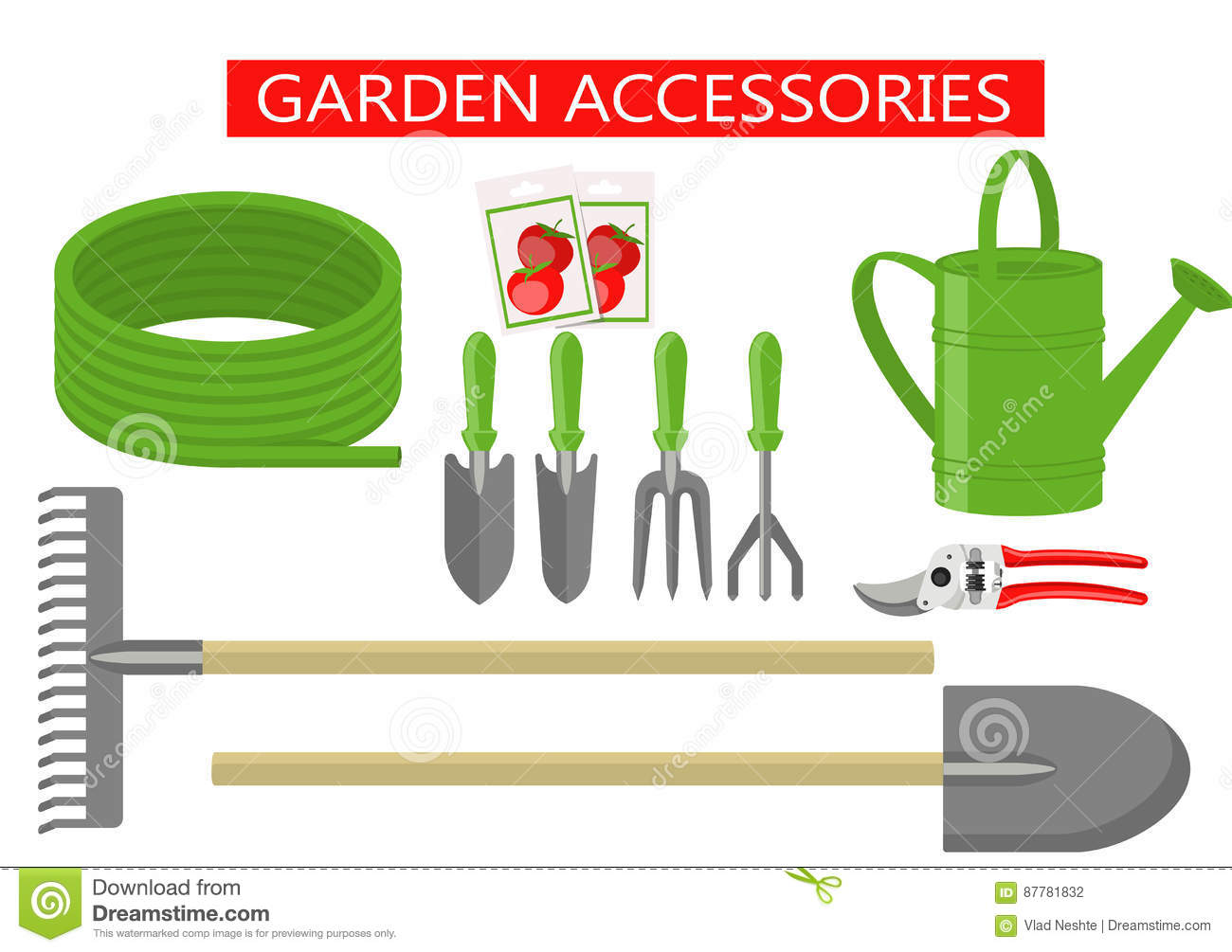 Gardening tools and equipment stock photo cartoondealer for Gardening tools cartoon