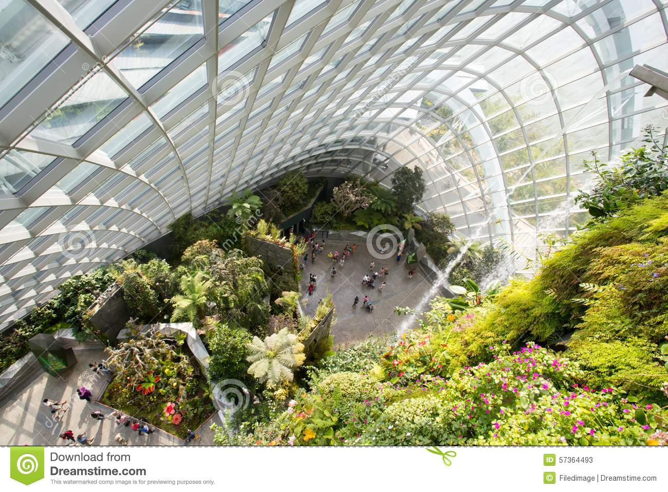 Garden By The Bay Majestic gardensthe bay cloud forest dome in singapore stock photo