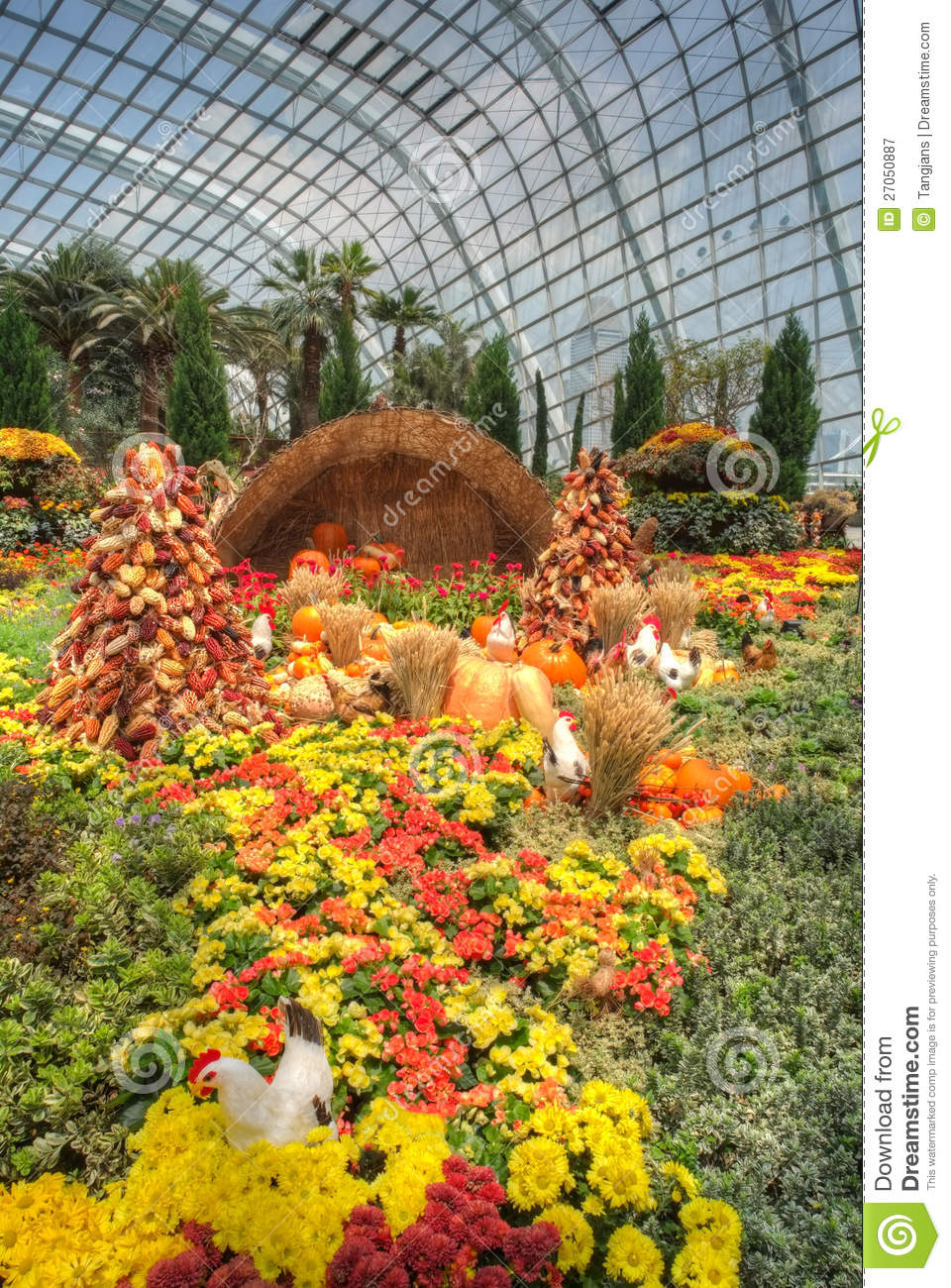 Gardens By The Bay Flower Dome Autumn Harvest Editorial
