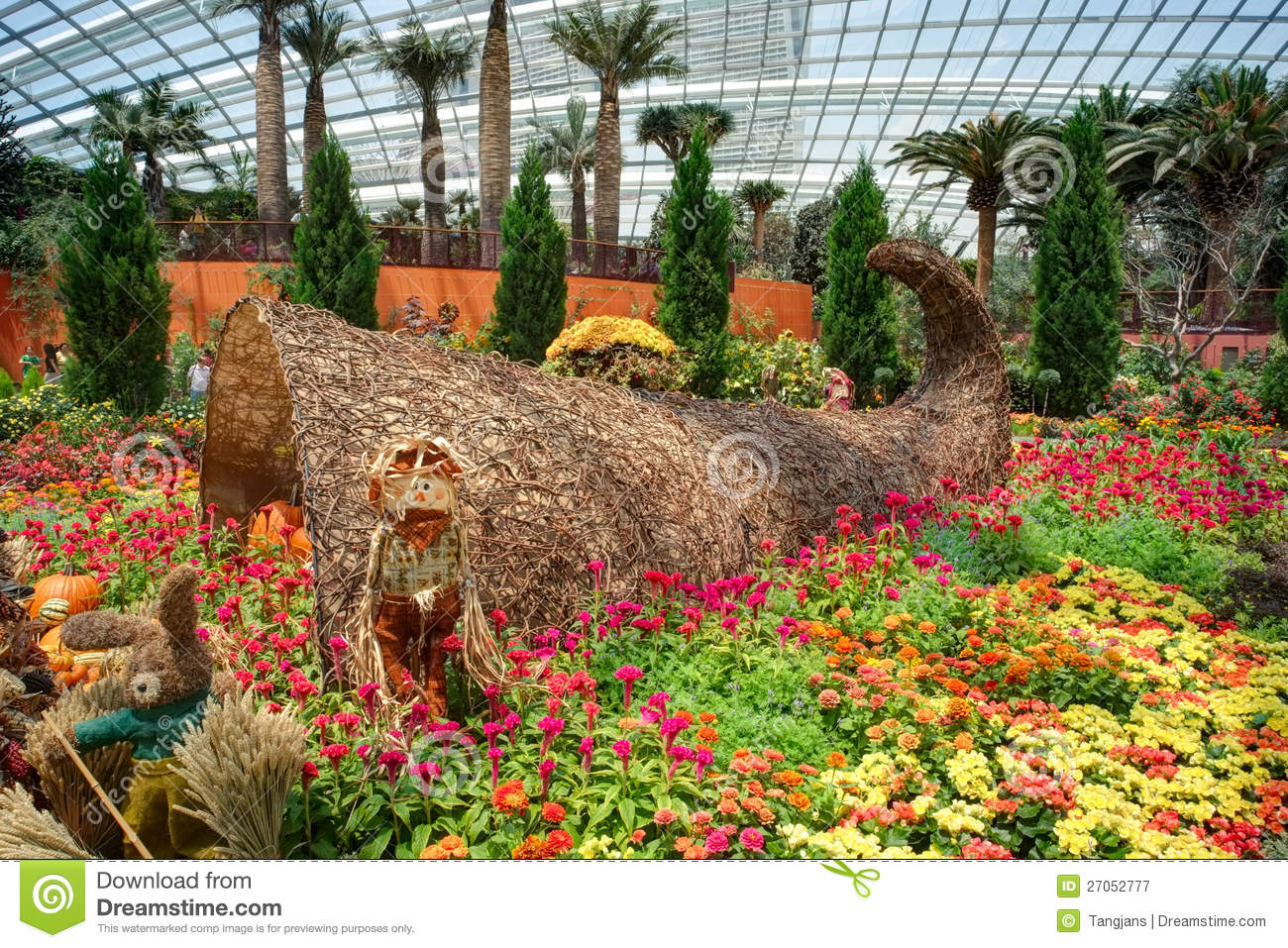 Garden By The Bay Flower Dome flower dome, gardensthe bay 3 editorial stock photo - image